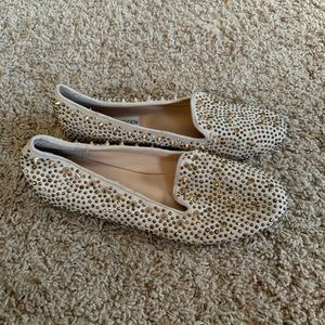 Steve Madden graanite studded flats loafers